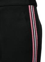Tuxedo stripe virgin wool wide leg pants