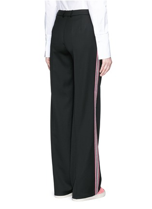 Back View - Click To Enlarge - Ports 1961 - Tuxedo stripe virgin wool wide leg pants