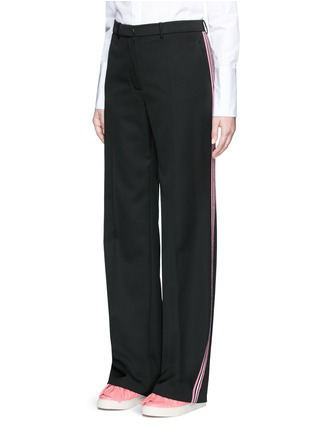 Front View - Click To Enlarge - Ports 1961 - Tuxedo stripe virgin wool wide leg pants