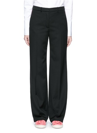 Main View - Click To Enlarge - Ports 1961 - Tuxedo stripe virgin wool wide leg pants