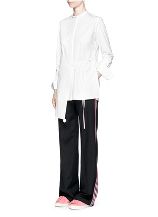 Figure View - Click To Enlarge - Ports 1961 - Tuxedo stripe virgin wool wide leg pants