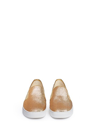 Front View - Click To Enlarge - Michael Kors - 'Keaton' sequin skate slip-ons