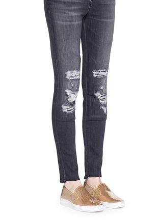 Figure View - Click To Enlarge - Michael Kors - 'Keaton' sequin skate slip-ons