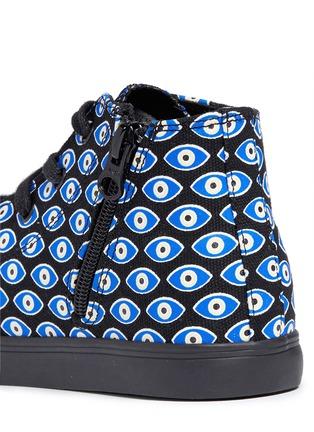 细节 - 点击放大 - AKID KIDS - ANTHONY儿童款眼睛印花高筒运动鞋