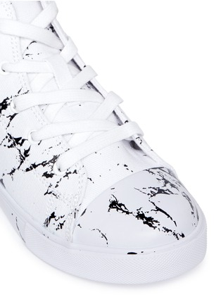 AKID - 'Anthony Hi' marble print canvas high top kids sneakers
