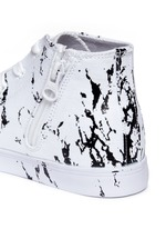 'Anthony Hi' marble print canvas high top kids sneakers