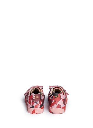 Back View - Click To Enlarge - AKID - 'Axel' camouflage print canvas kids sneakers