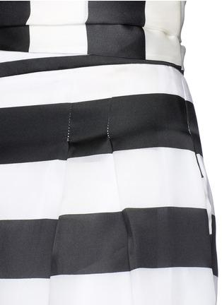 细节 - 点击放大 - PAPER LONDON - 拼色条纹宽松九分裤