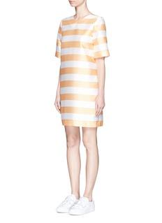 PAPER LONDON'Derain stripe gazar shift dress