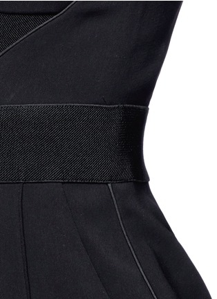 Detail View - Click To Enlarge - self-portrait - 'Lulu' pintuck cutout crepe jumpsuit