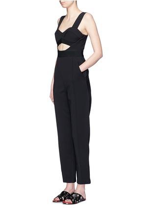 Figure View - Click To Enlarge - self-portrait - 'Lulu' pintuck cutout crepe jumpsuit