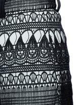 Teardrop guipure lace culottes