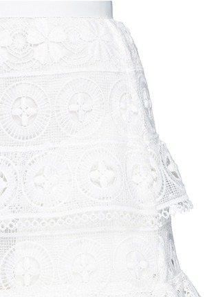 Detail View - Click To Enlarge - self-portrait - 'Spring Symphony' guipure lace dress