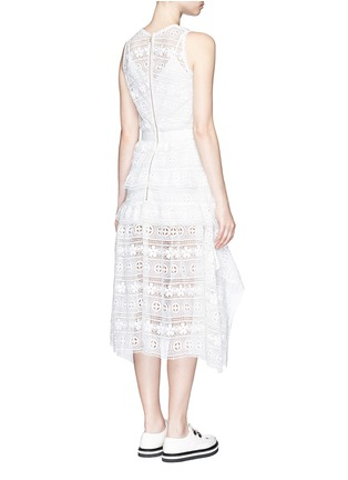 Back View - Click To Enlarge - self-portrait - 'Spring Symphony' guipure lace dress