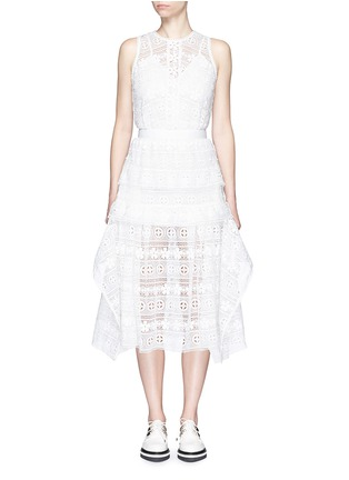 Main View - Click To Enlarge - self-portrait - 'Spring Symphony' guipure lace dress