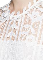 Floral satin lace A-line dress