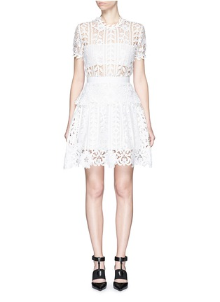 Main View - Click To Enlarge - self-portrait - Floral satin lace A-line dress