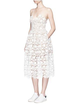 self-portrait-'Azaelea' floral lace spaghetti strap dress