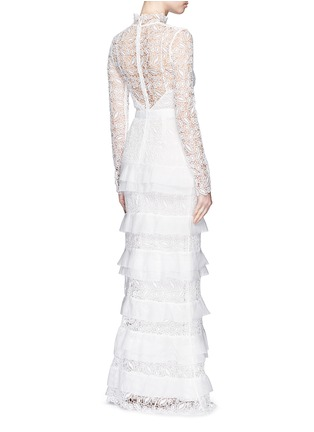 Figure View - Click To Enlarge - self-portrait - 'Primrose' organza frill tier lace wedding gown