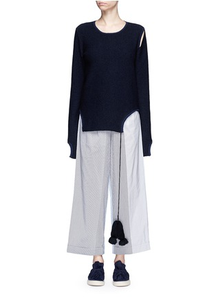 Main View - Click To Enlarge - Ports 1961 - Tassel tie cutout sweater
