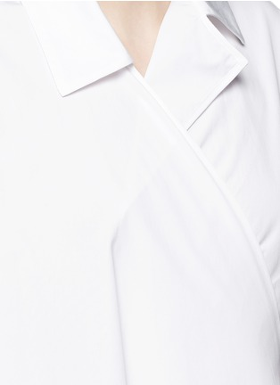 Detail View - Click To Enlarge - Ports 1961 - Sash waist cotton poplin coat