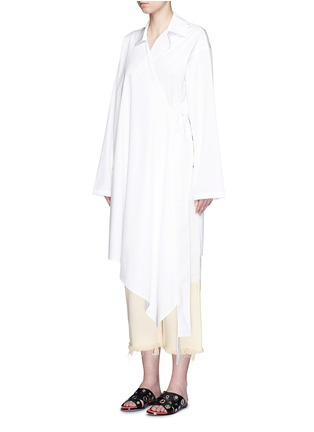 Front View - Click To Enlarge - Ports 1961 - Sash waist cotton poplin coat