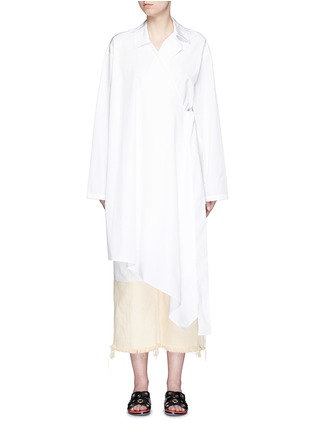 Main View - Click To Enlarge - Ports 1961 - Sash waist cotton poplin coat