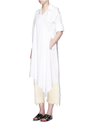 Figure View - Click To Enlarge - Ports 1961 - Sash waist cotton poplin coat