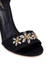 ''Keira' rhinestone daisy Taormina lace sandals