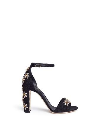 Dolce & Gabbana-''Keira' rhinestone daisy Taormina lace sandals