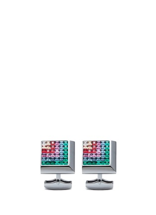 Main View - Click To Enlarge - Tateossian - Tetris Square Swarovski crystal metal cufflinks