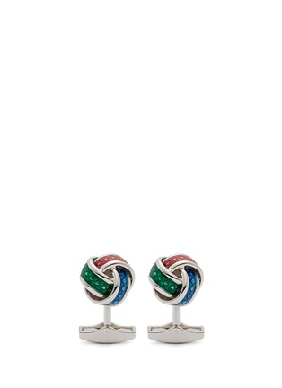 Main View - Click To Enlarge - Tateossian - Enamel knot sterling silver cufflinks