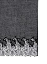 Floral lace trim modal-cashmere scarf