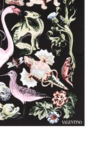 'Fantastic Animals' print silk twill scarf