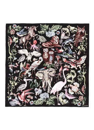 Valentino - 'Fantastic Animals' print silk twill scarf