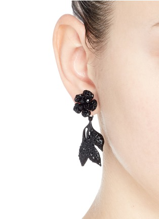 Figure View - Click To Enlarge - Valentino - Glam garden party strass earrings