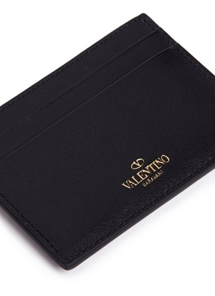 Detail View - Click To Enlarge - Valentino - 'Rockstud' leather card case