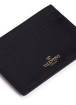 'Rockstud' leather card case