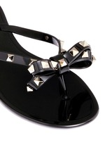 'Rockstud' bow flat jelly sandals