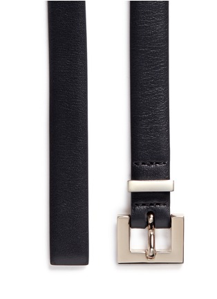Detail View - Click To Enlarge - Valentino - 'Rockstud' leather slim belt