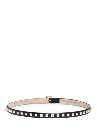 Back View - Click To Enlarge - Valentino - 'Rockstud' leather slim belt