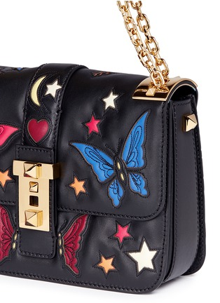 Detail View - Click To Enlarge - Valentino - 'B-Rockstud' butterfly appliqué leather shoulder bag