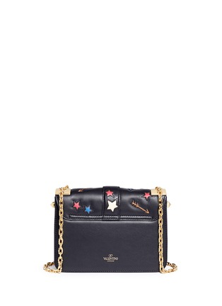 Back View - Click To Enlarge - Valentino - 'B-Rockstud' butterfly appliqué leather shoulder bag