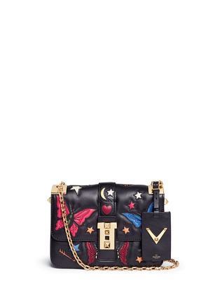Main View - Click To Enlarge - Valentino - 'B-Rockstud' butterfly appliqué leather shoulder bag
