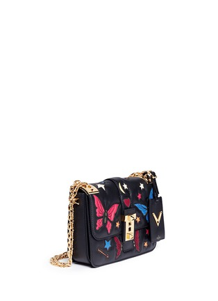 Figure View - Click To Enlarge - Valentino - 'B-Rockstud' butterfly appliqué leather shoulder bag