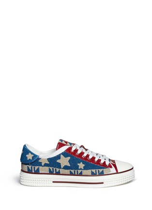 Main View - Click To Enlarge - Valentino - Beaded star sneakers