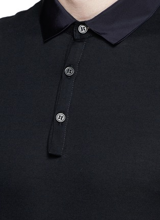 Detail View - Click To Enlarge - Lanvin - Grosgrain collar polo shirt