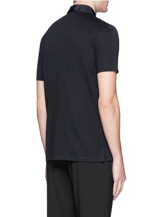 Back View - Click To Enlarge - Lanvin - Grosgrain collar polo shirt