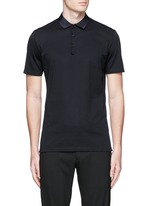 Grosgrain collar polo shirt