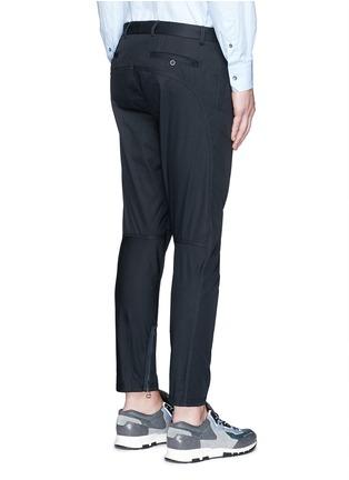 Back View - Click To Enlarge - Lanvin - Cotton gabardine biker pants